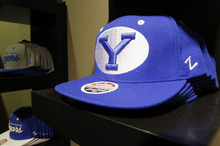 Al Hartmann  |  The Salt Lake Tribune One of many BYU hats at the