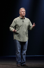 Phil Schiller, Apple's senior vice president of worldwide marketing, speaks during an Apple event in San Francisco, Wednesday, Sept. 12, 2012. (AP Photo/Jeff Chiu)