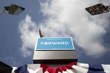 President Barack Obama speaks during a campaign event at Lions Park, Thursday, Sept. 13, 2012, in Golden,  Colo. (AP Photo/Carolyn Kaster)