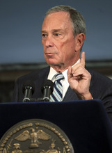 New York City Mayor Michael Bloomberg speaks at a news conference in New York, Thursday, Sept. 13, 2012. New York City cracked down on supersized sodas and other sugary drinks Thursday in what is celebrated as a groundbreaking attempt to curb obesity and condemned as a breathtaking intrusion into people's lives by a mayor bent on creating a