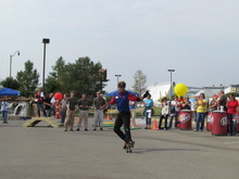 Nate Snow, of Taylorsville, competes to be America's No. 1 skating carhop in the Dr Pepper/RC Sports SONIC Skate-Off on Friday, Aug. 17, in Oklahoma City, Okla. Snow is a carhop at SONIC restaurants in Sandy and American Fork. Courtesy of SONIC Drive-in.
