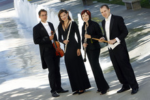 Francisco Kjolseth  |  The Salt Lake Tribune New members of the Utah Symphony includes violinist Claude Halter, flutist Mercedes Smith, oboist Lissa Stolz and percussionist Keith Carrick. As seen outside Abravanel Hall.