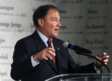 Al Hartmann  |  The Salt Lake Tribune Gov. Gary Herbert says Utah is one of the fastest recovering states following the battering of the recession. He also defended his record on education, saying during his time in office some $200 million addtional in funds has been directed to schools.