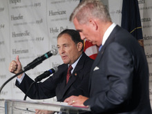 Al Hartmann     The Salt Lake Tribune Gov. Gary Herbert defended his leadership against complaints hurled by challenger Peter Cooke. Herbert said if a person doesn't believe in the state they shouldn't be running for governor.