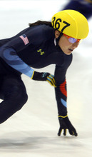 Rick Egan  | The Salt Lake Tribune   Alyson Dudek is one of several skaters to file a complaint against U.S. Speedskating short-track coaches.