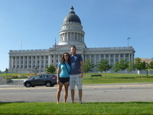 Courtesy Jamila Benkato Jamila Benkato and her boyfriend, Levi LaChappelle, pose while at the Utah Capitol in June while en route to LaChappelle's home in Michigan. The couple's three-hour pit stop at the parking garage under the newly opened City Creek Shopping Center in downtown Salt Lake City cost them nearly everything they owned. The couple's Honda Civic was packed to the roof with their entire college lives. All of it was stolen when their car was broken into, most likely never to be recovered. The estimated loss: $6,000.
