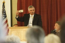 Leah Hogsten  |  The Salt Lake Tribune Utah's Freedom Conference speaker Tom Selgas, CEO of the Bill of Rights Foundation  wants to promote silver and gold as legal tender. Conference goers paid their conference fees with a silver dollar, waiving the $45 conference registration fee, September 15, 2012,