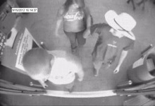 Courtesy Unified Police and Unified Fire Surveillance photos shows suspects in the Riverton Walmart chemical spray incident. Two adults have been arrested.