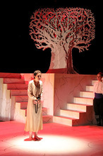 Deena Marie Manzanares plays Hermione in The Sting & Honey Company's production of William Shakespeare's