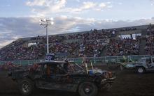 Kim Raff    The Salt Lake Tribune Zack Carter competes in the Demolition Derby on the last day of the Utah State Fair in Salt Lake City on Sept. 16, 2012.