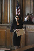 Janet Montgomery stars as Martina Garretti, a young working-class woman who uses her street smarts to compete among her pedigreed Manhattan colleagues at a prestigious New York law firm in MADE IN JERSEY, Photo: Heather Wines/CBS