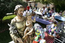 Scott Sommerdorf  |  The Salt Lake Tribune              A religious sculpture was part of the auction at the Carmelite Monastery's annual fundraiser, Sunday, Septmenber, 16, 2012. The annual fundraiser included at 5K, children's games, music, food, and a silent auction, with all proceeds benefiting the Carmelite nuns.