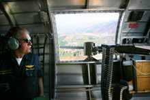 Steve Griffin | The Salt Lake Tribune    Jim Swanke, a member of the WWII B-17G bomber,