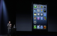 Scott Forstall, Apple's senior vice president of iOS Software, speaks about software for the iPhone 5 during an Apple event in San Francisco, Wednesday, Sept. 12, 2012. (AP Photo/Jeff Chiu)