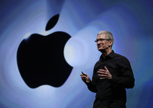 Apple CEO Tim Cook speaks following an introduction of the new iPhone 5 in San Francisco, Wednesday, Sept. 12, 2012.  (AP Photo/Eric Risberg)