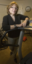 Paul Fraughton | Salt Lake Tribune  Jody Stubler, who had gastric bypass surgery three years ago, stands in her exercise room, which she uses nearly every day .