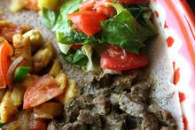Leah Hogsten  |  The Salt Lake Tribune The meat combo at Blue Nile restaurant.