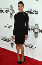 Zoe Saldana attends the West Coast premiere of