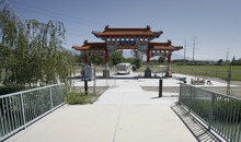 Rick Egan  |  The Salt Lake Tribune  A Chinese gate sponsored by the Chinese Heritage Foundation of Utah is being constructed at the Utah Cultural Celebration Center in West Valley City.