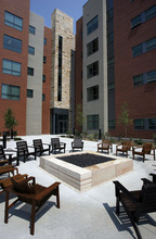 Francisco Kjolseth  |  The Salt Lake Tribune A patio at the University of Utah's new Honors residence hall is one of many features designed to bring students together. The building's dedication Friday presages two big trends. The Salt Lake City university will see more major projects geared toward improving the undergraduate experience and more highly visible development on the edge of campus.