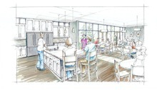 A rendering of the dining room at Hope Lodge in Salt Lake City. The American Cancer Society announced Thursday it has raised $10.2 million toward its $18 million capital campaign to build the 42-suite lodge for cancer patients who need to leave their homes for therapy in Salt Lake City.