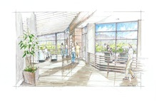 A rendering of a gathering room at Hope Lodge in Salt Lake City. The American Cancer Society announced Thursday it has raised $10.2 million toward its $18 million capital campaign to build the 42-suite lodge for cancer patients who need to leave their homes for therapy in Salt Lake City.