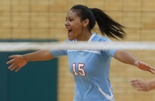 Trent Nelson  |  The Salt Lake Tribune Granger High volleyball player Lile Havili competes in a match vs. Kearns in Kearns, Utah, Thursday, September 13, 2012.