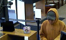 Zion Bank security camera image of robber. (SLCPD photo)