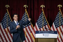 Republican presidential candidate and former Massachusetts Gov. Mitt Romney speaks at a campaign fundraising event in Del Mar, Calif., Saturday, Sept. 22, 2012. (AP Photo/Charles Dharapak)