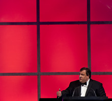 Michael Mangum  |  Special to the Tribune  New Jersey Gov. Chris Christie delivers the keynote address at the 2012 Governor's Gala fundraiser for Gov. Gary Herbert at the Grand America hotel in Salt Lake on Saturday, September 22, 2012.