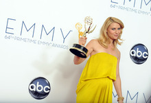 Actress Claire Danes, winner of the Outstanding Lead Actress In A Drama Series award for