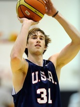 Gordon Hayward of the 2012 USA Men's Select Team attends practice at the Mendenhall Center on Monday, July 9, 2012 in Las Vegas. (Photo by David Becker)