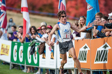 Max King runs to victory at the XTERRA Trail Run National Championship on Sunday at Snowbasin Resort. Photo courtesy of Trey Garman