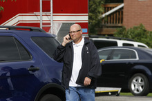Scott Sommerdorf  |  The Salt Lake Tribune              Unified Police respond to a report of a man barricaded in his home with possible explosives at 3128 Del Mar in Millcreek, Sunday, September 23, 2012.