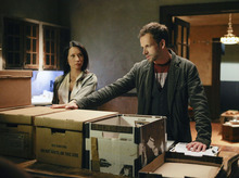Courtesy photo Sherlock (Jonny Lee Miller) and Joan Lucy Liu) consults on child abduction case in
