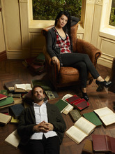 Courtesy photo Jonny Lee Miller (left) stars as Sherlock Holmes and Lucy Liu (right) stars as Watson on the new television series