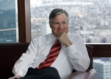 John R. Miller, CEO of a meat packing company, in his Salt Lake office.  He is on Mitt Romney's national finance team.    Rick Egan/The Salt Lake Tribune  2/02/2007