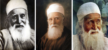 Three portraits of Abdu'l-Bahá, son of the Baha'i founder, who gave speeches across America, including in Utah, on the oneness of humanity.