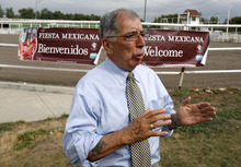 Francisco Kjolseth  |  The Salt Lake Tribune Jesse Soriano, a board member for Fiesta Mexicana, scheduled to take place at the state fair this year, talks about some of the plans as he and others are making a concerted effort this year to extend its appeal to Hispanics, with a big emphasis on Hispanic traditions and Mexico's day of independence on Sept. 15. At the arena a Mexican rodeo will be featured for the first time bringing in professional ropers, dancing horses and