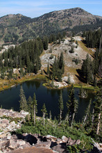 Francisco Kjolseth  |  The Salt Lake Tribune A dispute has been brewing between Salt Lake City and a mining company that claims it owns lands east of Lake Mary and beneath Martha Lake, pictured, in the hills above Brighton Resort in Big Cottonwood Canyon.