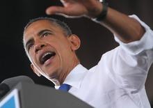 President Barack Obama speaks at Farm Bureau Live during a campaign stop in Virginia Beach, Va.  on Thursday, Sept. 27, 2012. (AP Photo/The Virginian-Pilot, Stephen M. Katz) MAGS OUT