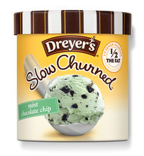 AP/Dreyer's/Edy's Ice Cream Brands such as Dreyer's/Edy's ice cream are rolling out mid-calorie products that have more fat and calories than the snacks of earlier diet crazes but less than the original versions -- without saying goodbye to taste.