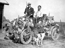 Duck hunters on the Bear River Migratory Bird Refuge. Courtesy of Utah Historical Society