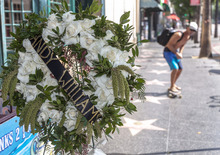 Flowers are left at the star of performer Andy Williams star on the Hollywood Walk of Fame in Los Angeles, Wednesday, Sept. 26, 2012. Williams, who had a string of gold albums and hosted several variety shows and specials such as,