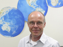 Thomas Reichler, a University of Utah atmospheric scientist, led a new study showing that changes in winds 15- to 30-miles high in the stratosphere can influence seawater circulation a mile or more deep in the ocean. He says this effect should be taken into account in forecasting climate change distinct from global warming. Courtesy Lee J. Siegel, University of Utah