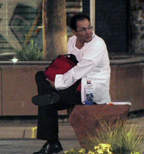 A man who claimed to have a bomb Thursday night at the Gallivan Center TRAX station is seen in this photo. Courtesy   KUTV