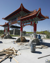 Rick Egan  |  The Salt Lake Tribune  A Chinese gate sponsored by the Chinese Heritage Foundation of Utah is being constructed at the Utah Cultural Celebration Center in West Valley City. Donors for the gate showed up this week at a West Valley City Council meeting to raise questions about where their money actually went after board members demanded a budget and ledgers for a year with no results.