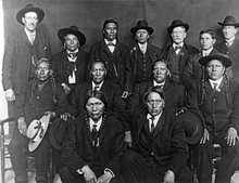 Ute delegation of 1905 on opening of Uintah-Ouray reservation. Courtesy Utah Historical Society