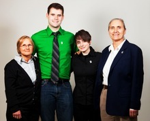 Zach Wahls, shown with his two mothers and sister, has become an activist on LGBT rights after speaking out to Iowa lawmakers last year about the positive experiences he has had growing up with two moms. Courtesy image, www.zachwahls.com