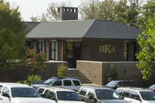 In a Tuesday, Sept. 25, 2012, photograph, the University of Tennessee Pi Kappa Alpha fraternity house is seen in Knoxville, Tenn. The fraternity was the scene of a notorious alcohol enema incident that sent one student to the hospital and brought unwanted attention to the university. W. Timothy Rogers, vice chancellor for student life said a trio of investigations by the University of Tennessee Police Department, the Pi Kappa Alpha national office and the UT Office of Student Judicial Affairs are under way into the Sept. 22 incident. (AP Photo/Knoxville News Sentinel, J. Miles Cary)